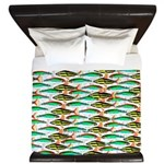 School of Tropical Amazon Fish 1 King Duvet