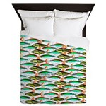 School of Tropical Amazon Fish 1 Queen Duvet