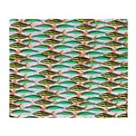 School Of Tropical Amazon Fish 1 Throw Blanket