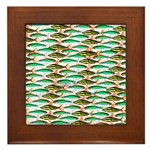 School of Tropical Amazon Fish 1 Framed Tile