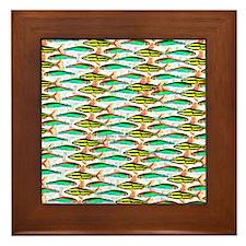 School of Tropical Amazon Fish 1 Framed Tile