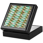 School of Tropical Amazon Fish 1 Keepsake Box