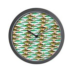 School of Tropical Amazon Fish 1 Wall Clock