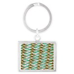 School of Tropical Amazon Fish 1 Keychains