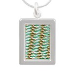 School of Tropical Amazon Fish 1 Necklaces