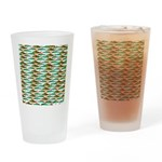 School of Tropical Amazon Fish 1 Drinking Glass