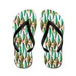 School of Tropical Amazon Fish 1 Flip Flops