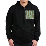 School of Tropical Amazon Fish 1 Zip Hoodie
