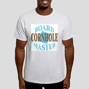 Cornhole Board Master Ash Grey T-Shirt