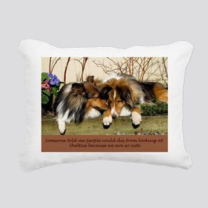 People Can Die fro Shelties Rectangular Canvas Pil