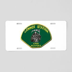 Lennox Station Aluminum License Plate