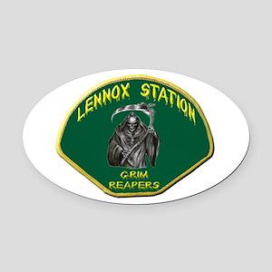 Lennox Station Oval Car Magnet