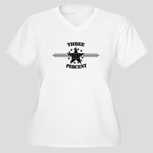 Three Percent Stars and Stripes Plus Size T-Shirt