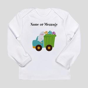 Easter Bunny Dump Truck Long Sleeve T-Shirt