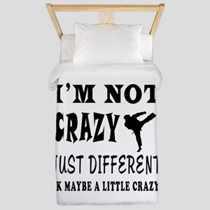 I'm not Crazy just different Karate Twin Duvet
