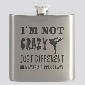 I'm not Crazy just different Karate Flask