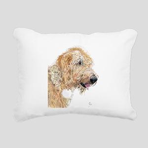 Cream Labradoodle 4 Rectangular Canvas Pillow