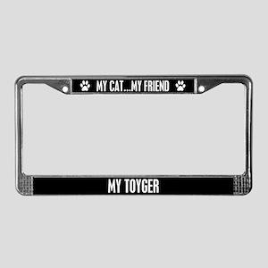 Toyger License Plate Frame