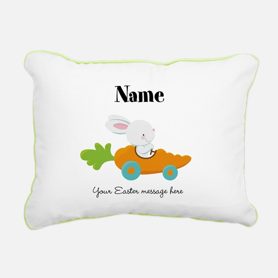 Personalized Easter Bunny Car Pillow