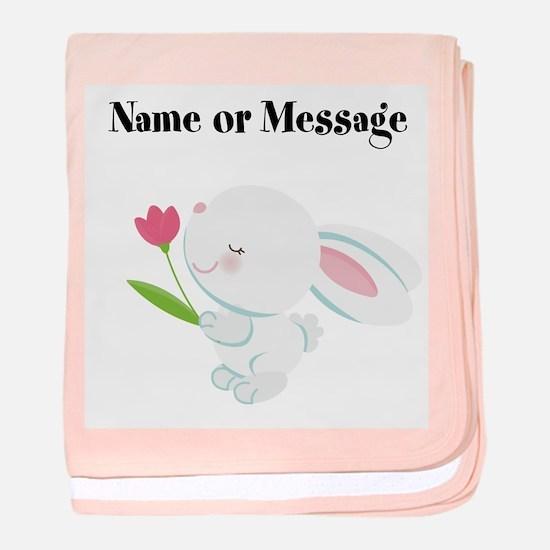 Girl Bunny baby blanket