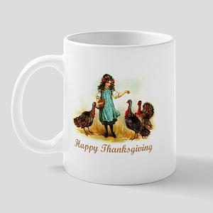 Vintage Farm Thanksgiving Mug