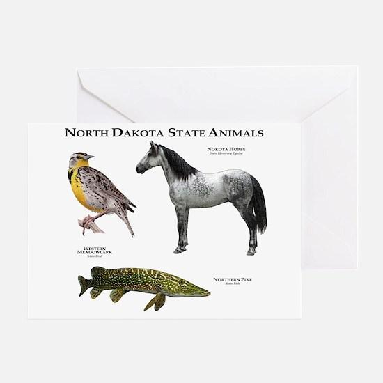 North Dakota State Animals Greeting Card