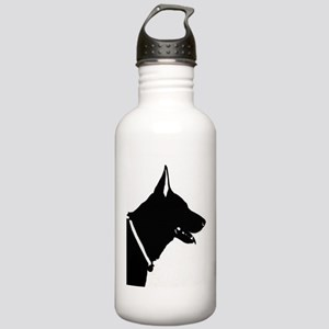 German Shepherd Silhouette Water Bottle
