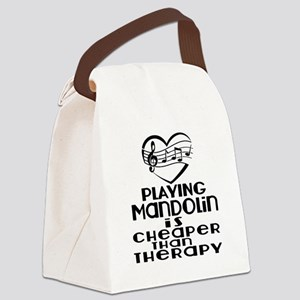 Mandolin Is Cheaper Than Therapy Canvas Lunch Bag