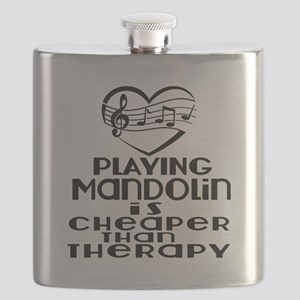 Mandolin Is Cheaper Than Therapy Flask