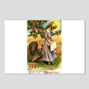 Victorian Thanksgiving Postcards (Package of 8)