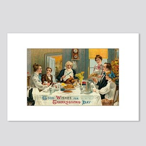 Traditional Thanksgiving Dinn Postcards (Package o