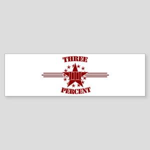 Three Percent Red Bumper Sticker
