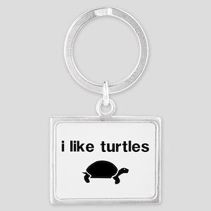 I Like Turtles Keychains