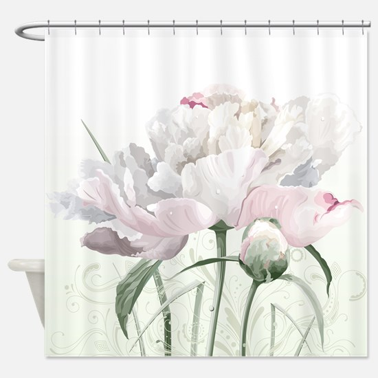 Beautiful Peony Painting Shower Curtain