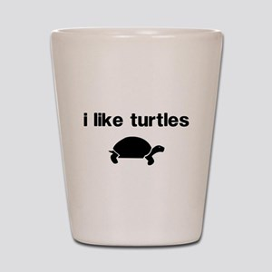 I Like Turtles Shot Glass