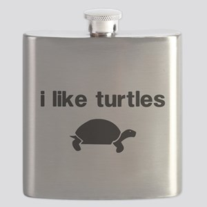 I Like Turtles Flask