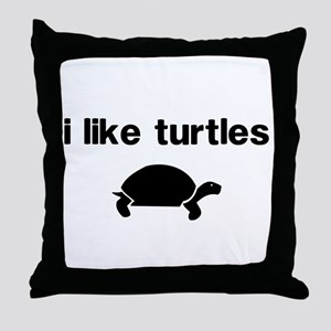 I Like Turtles Throw Pillow