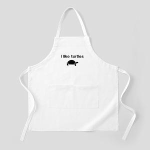 I Like Turtles Apron