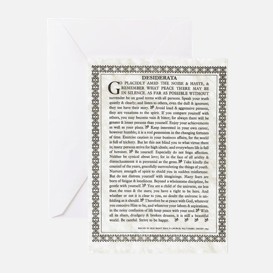 The Desiderata Poem by Max Ehrmann Greeting Cards