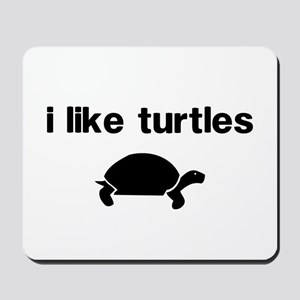 I Like Turtles Mousepad