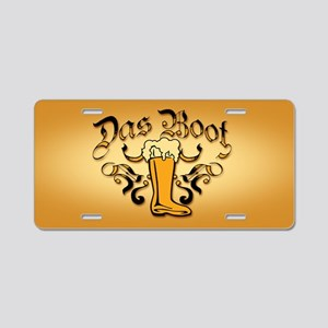 Das Boot Of Beer Aluminum License Plate