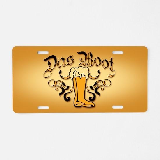 Das Boot Of Beer Aluminum License Plate