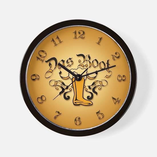 Das Boot Of Beer Wall Clock