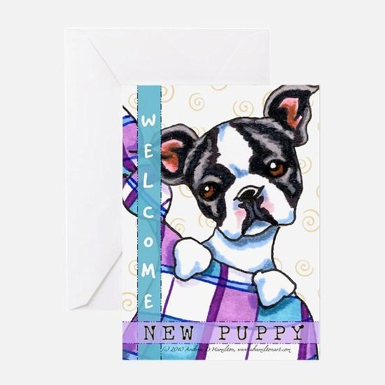 Boston Terrier Congratulations New Puppy Card