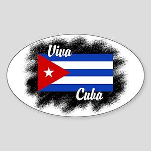 Viva Cuba Oval Sticker