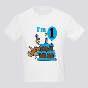 Boy Monkey 1st Birthday T-Shirt