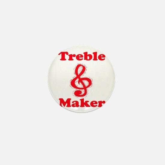 treble maker red Mini Button