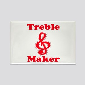 treble maker red Rectangle Magnet