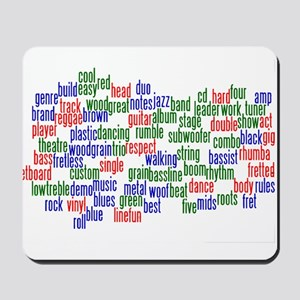bass related words wordle red green blue Mousepad