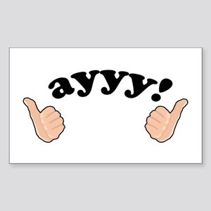 'Ayyy!' Fonzie Sticker (Rectangle)